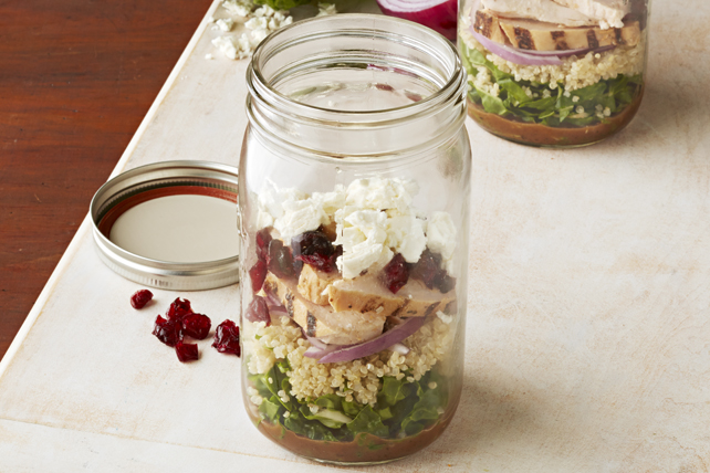 Balsamic Chicken & Quinoa Salad in a Jar Image 1