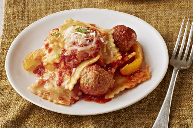 Ravioli & Meatball Slow-Cooker Casserole Image 1