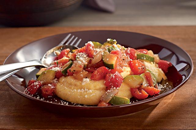 Légumes croquants sur lit de polenta crémeuse Image 1