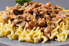 Creamy Mushroom-Pasta Toss