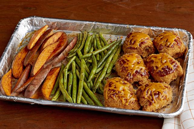 BBQ Chicken & Sweet Potato Sheet-Pan Dish Image 1