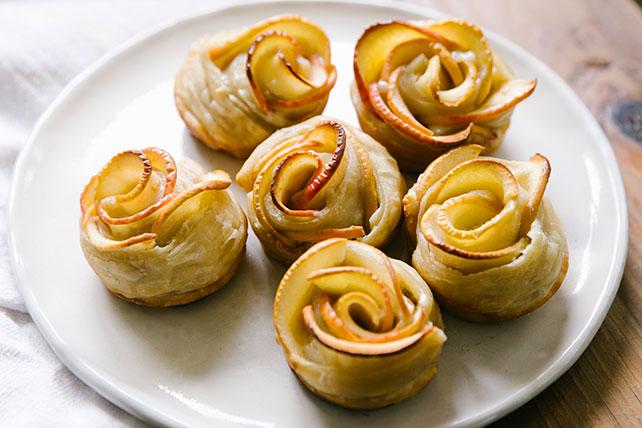 Tartelettes aux pommes en forme de rose Image 1