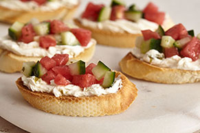 Watermelon-Jalapeño Crostini