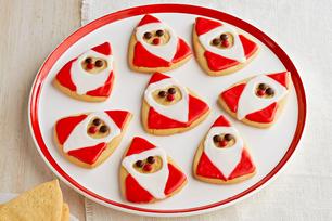Biscuits au sucre en forme de PèreNoël