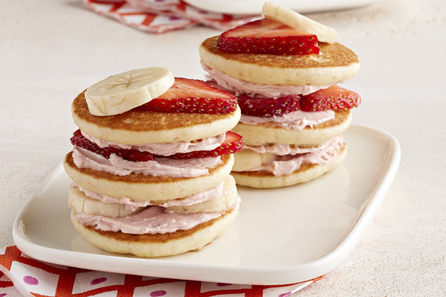 Strawberry-Banana Mini Pancake Stacks Image 1