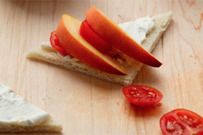Tomato & Peach Tea Sandwich