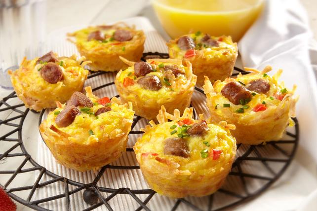 Asombrosos muffins de papa y salchichas Image 1