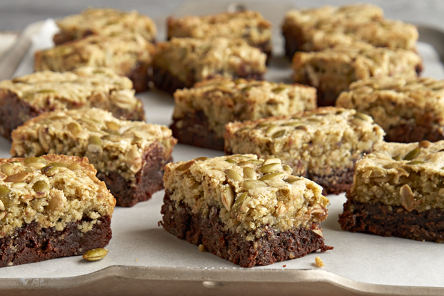 Layered Pumpkin Seed-Chocolate Brownies Image 1