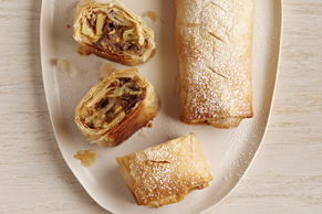 Apple-Pecan Phyllo Strudel