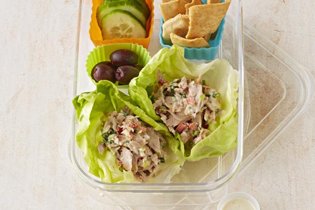 Mediterranean Tuna Lettuce Wraps Image 1