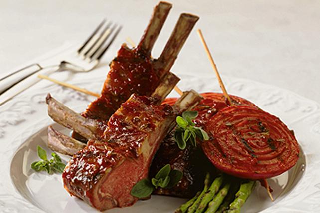 Côtelettes d'agneau grillées et sauce à la menthe fraîche Image 1