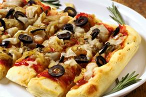 Pizza aux oignons caramélisés