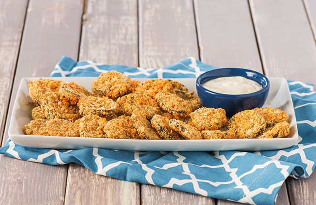 Oven-Fried Pickle Chips Image 1