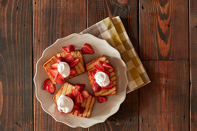 Grilled Strawberry Shortcake with Sweet Cream Image 1