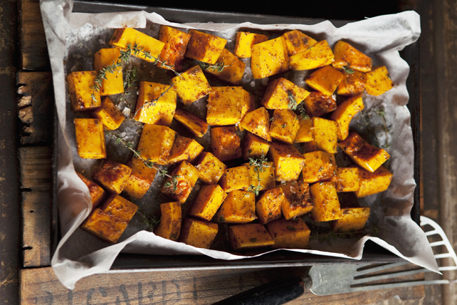 Oven-Roasted Sweet Potatoes with Thyme Image 1