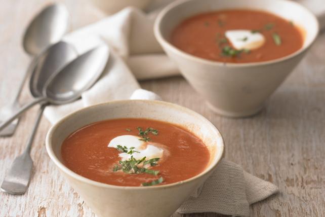 Potage aux tomates et à la patate douce  Image 1
