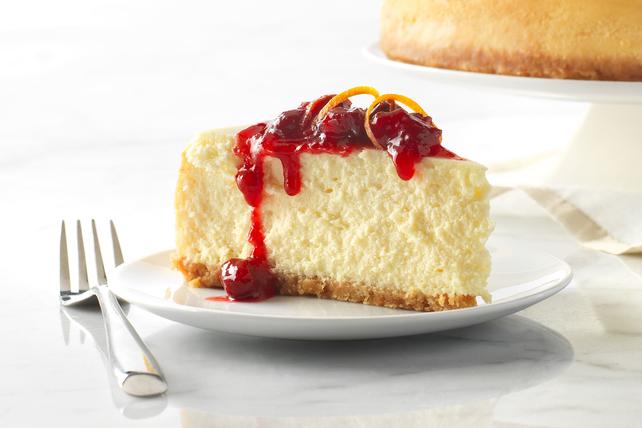 Cranberry-Orange White Chocolate Cheesecake Image 1