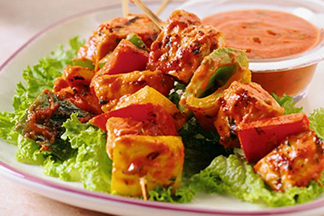 Brochettes de poulet et de légumes  Image 1