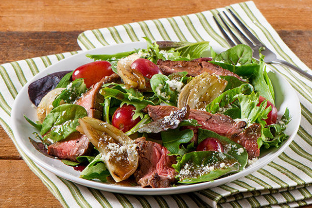 Grilled Steak & Roasted Grape Salad