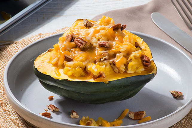 Rice-Stuffed Acorn Squash Image 1