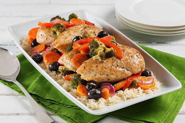 Poêlée de poulet et de riz à la grecque Image 1
