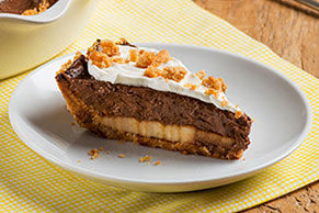 Banana, Peanut Butter & Chocolate Pudding Pie