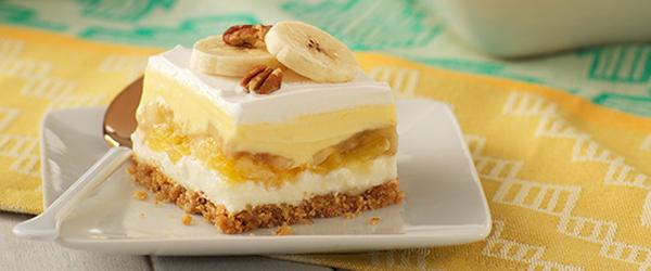 «Gâteau» à la banane royale au chocolat blanc