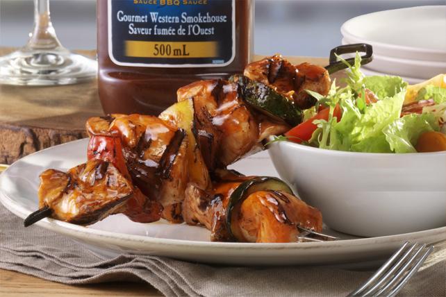 Brochettes savoureuses de poulet et de légumes grillés  Image 1