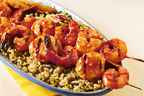Maple-Orange Shrimp & Scallop Kabobs