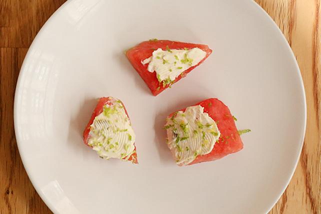 Bouchées rafraîchissantes et épicées de melon d'eau Image 1