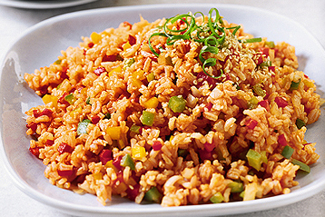 Fried Rice and Rainbow Peppers Image 1
