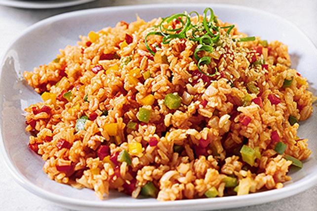 Riz frit aux poivrons colorés Image 1