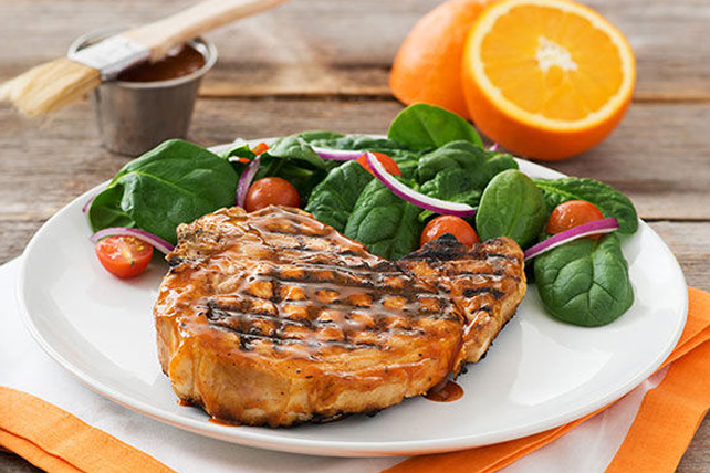 Citrus Barbecued Pork Chops Image 1