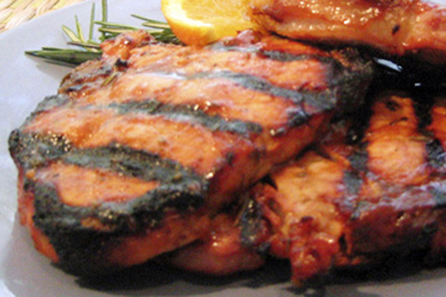 Orange-Glazed Pork Chops Image 1