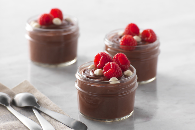Raspberry-Chocolate Pudding Cups Image 1