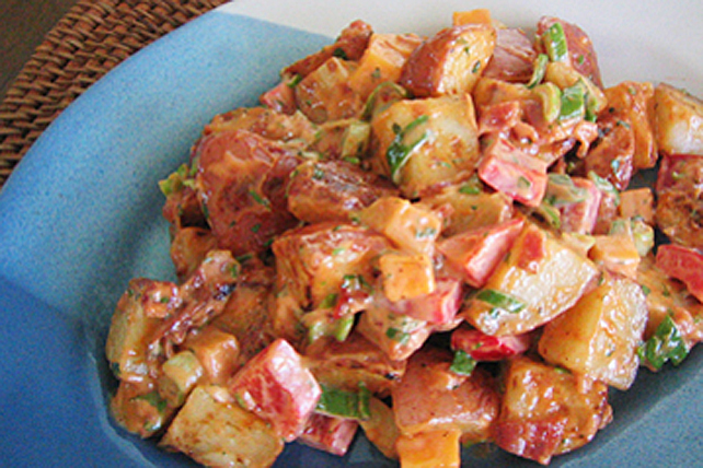 Maple-Mustard Grilled Potato Salad Image 1