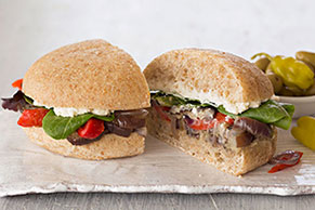Roasted Eggplant Subs