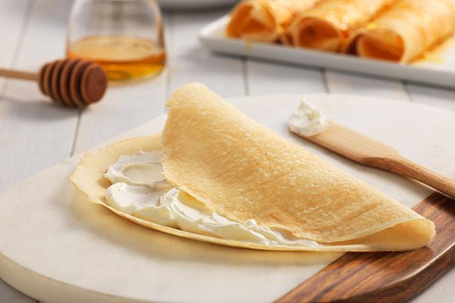 Crepas con miel y queso crema Image 1