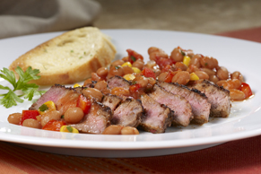 Tex-Mex Steak and Beans