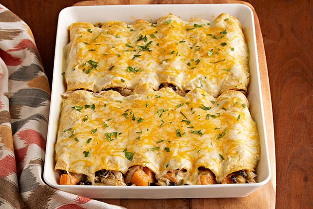 Enchiladas de pollo con queso y camote Image 1