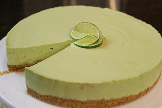 Gâteau au fromage à l'avocat et à la lime sans cuisson Image 1