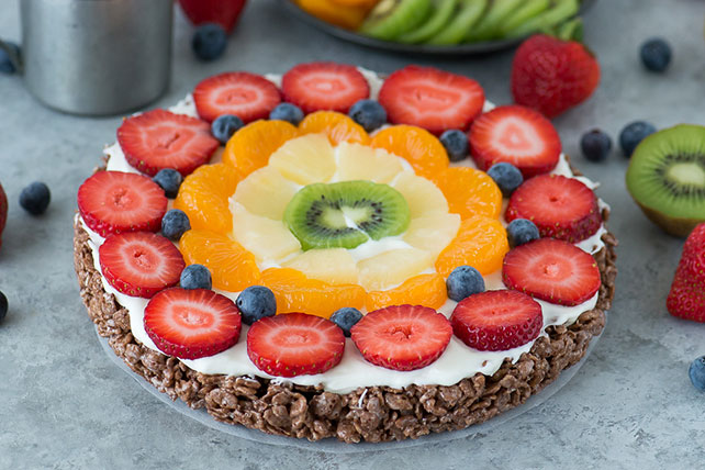 Fruit Tart with Chocolate Crispy Cereal Treat Crust Image 1