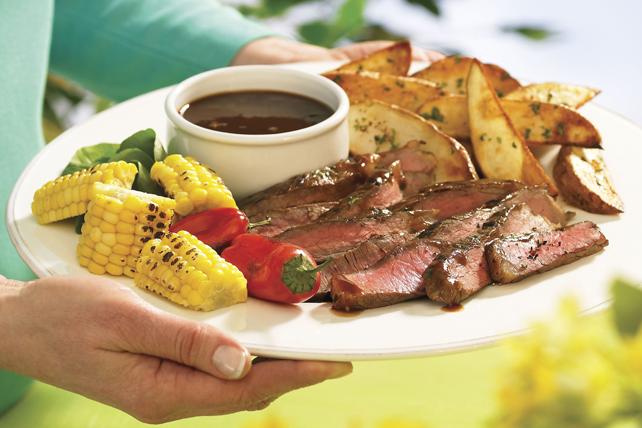 Bifteck mariné et sauce sensas à la bière Image 1