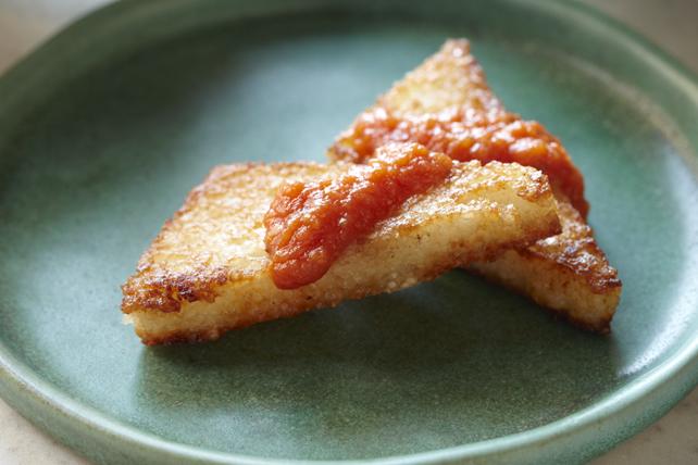 Fried Polenta with Tomato Sauce Image 1