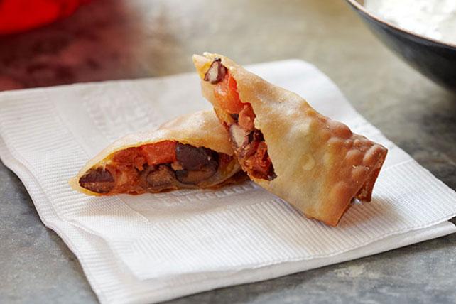 Pâtés impériaux à la mexicaine et sauce crémeuse à la coriandre  Image 1
