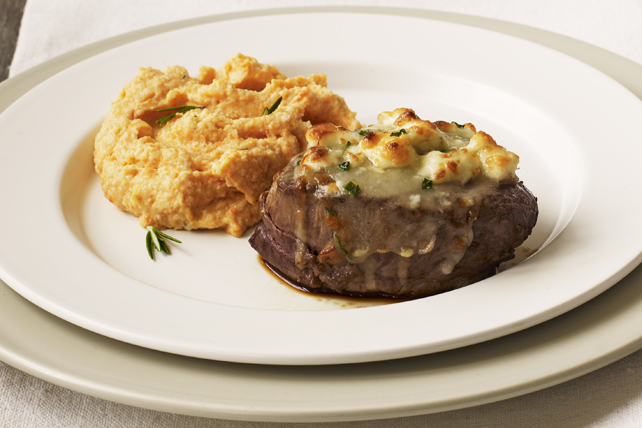 Cheese-Crusted Beef Tenderloin Steaks Image 1
