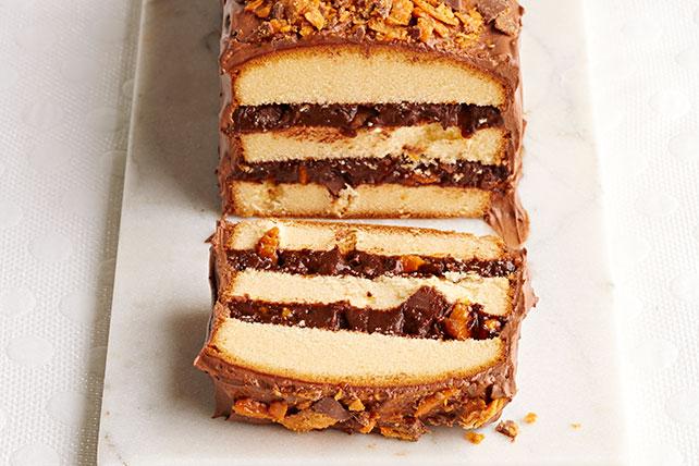 Pastel de barras de chocolate en capas Image 1