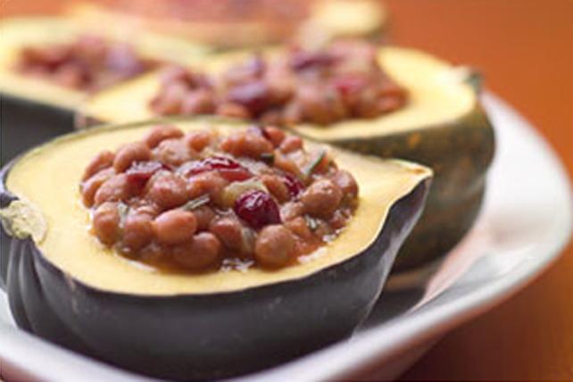 Courge poivrée farcie aux fèves au sirop d'érable Image 1