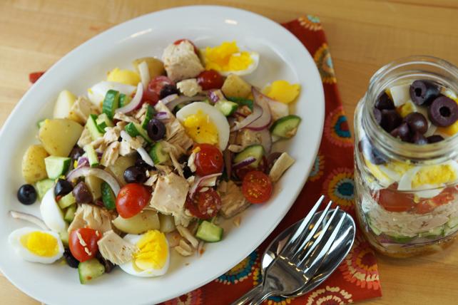 Salade niçoise dans un pot Image 1