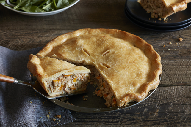 Cheesy Cheddar Tourtière Image 1